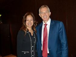 Kathy Hao Meets Tony Blair